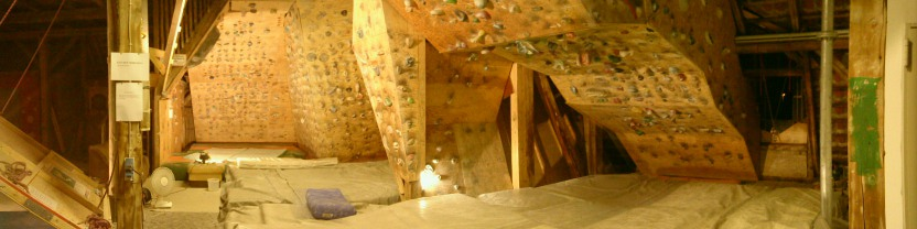 Ansicht des Boulderraums
